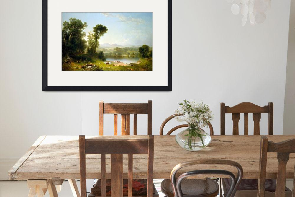 """Asher Brown Durand Pastoral Landscape&quot  by PDGraphics"