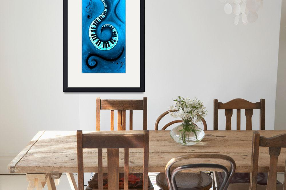 """""""Blue 1 - Swirling Piano Keys - Music In Motion&quot  by waynecantrell"""