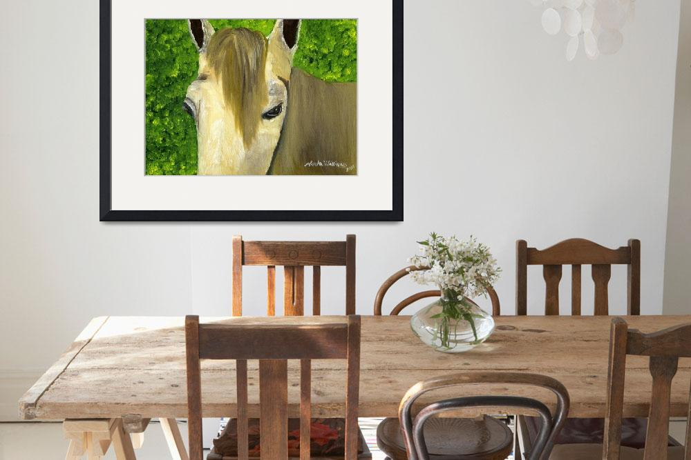 """""""Portrait of a Curious Horse&quot  (2011) by mariawilliams"""