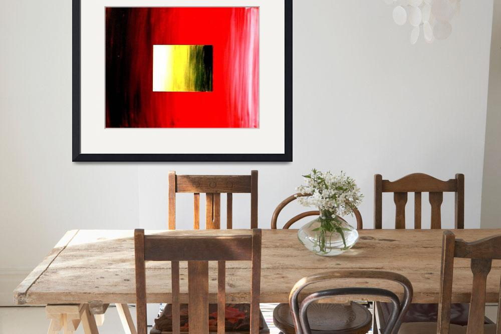 """""""ABSTRACT 3D RED YELLOW SQUARE&quot  (2006) by teofaith"""
