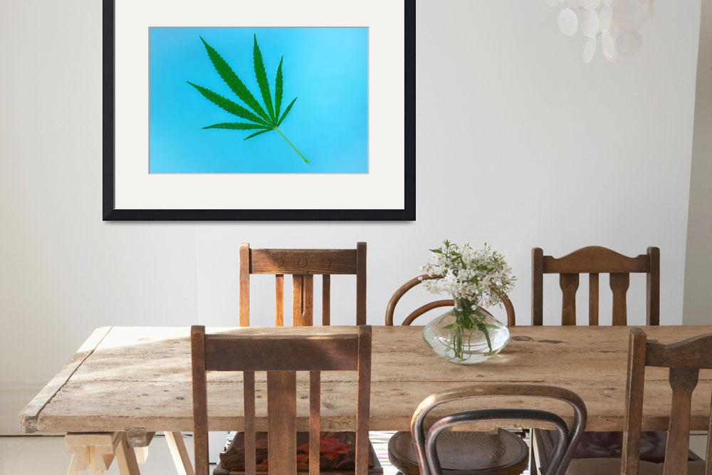 """""""Weed Leaf&quot  (2017) by capjah"""