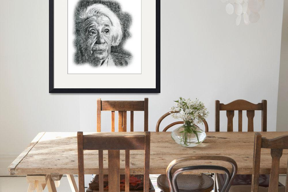 """Hand Drawn Portrait of Albert Einstein""  by CreativeArtisticNuance"