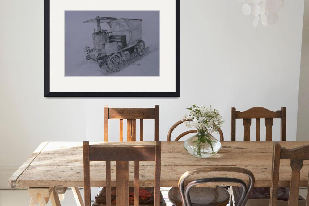 """""""Steam Car in Graphite""""  (2012) by anthonydunphy"""