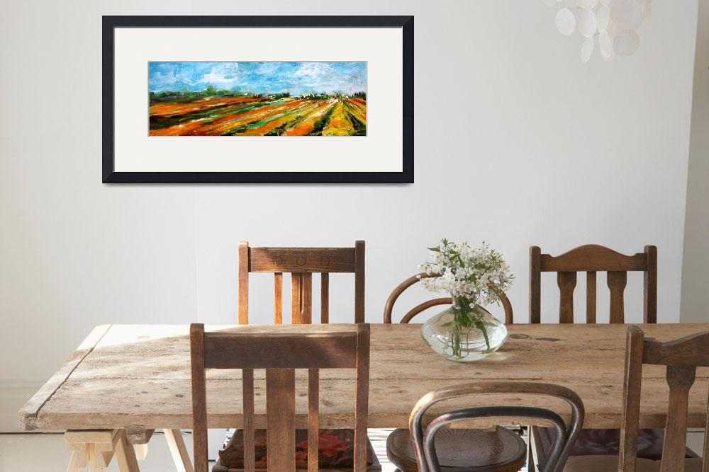 """""""Fields of Tulips Panoramic by Ginette&quot  (2002) by GinetteCallaway"""