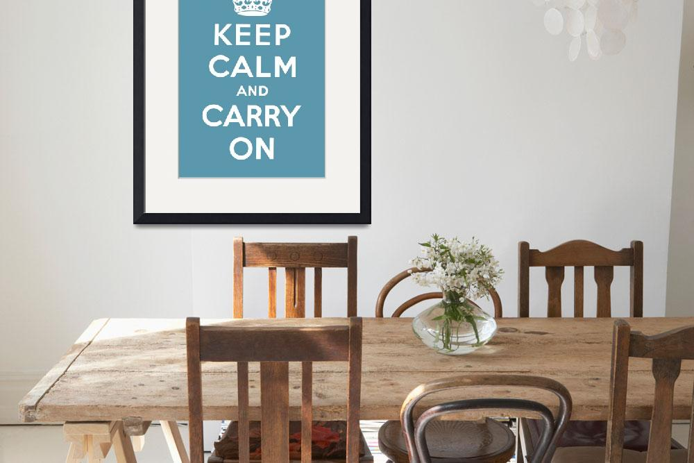 """Blue Keep Calm And Carry On 7""  by oldies"