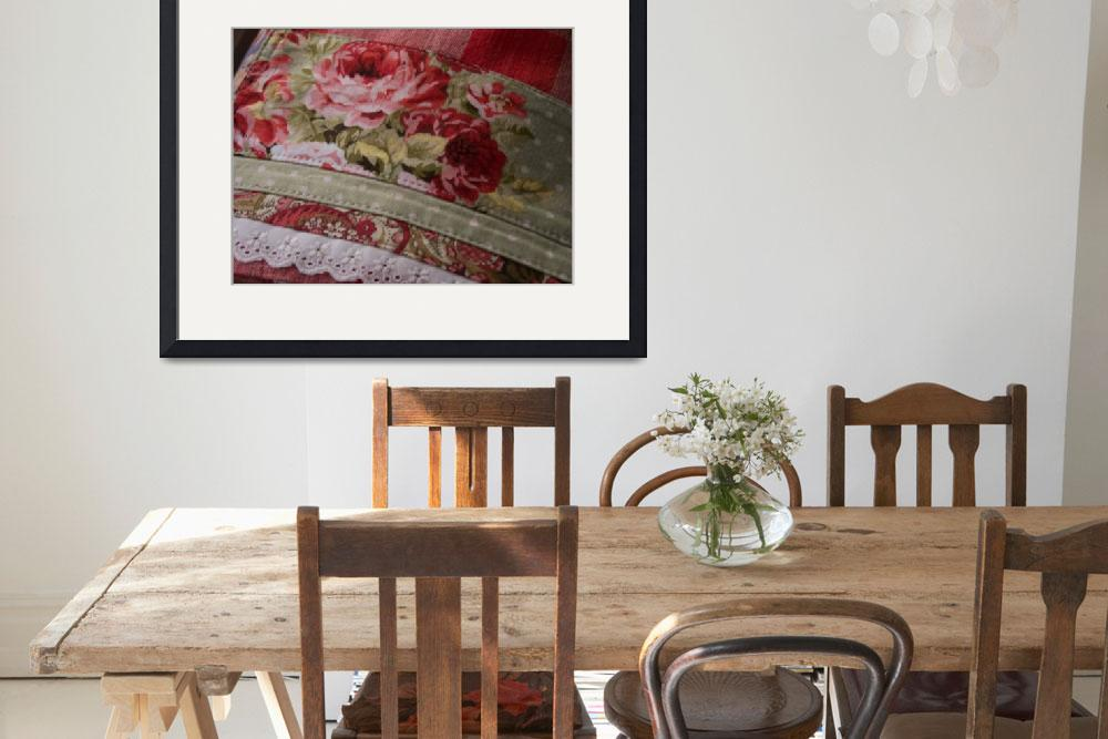"""""""Tea Towel- Red Retro Roses&quot  by thedecorativetowel"""
