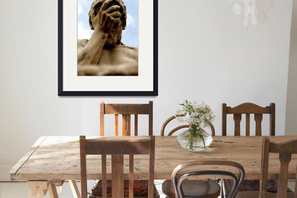 """""""Statue Head in Hand Art Prints on Sale&quot  (2010) by tobiphoto"""