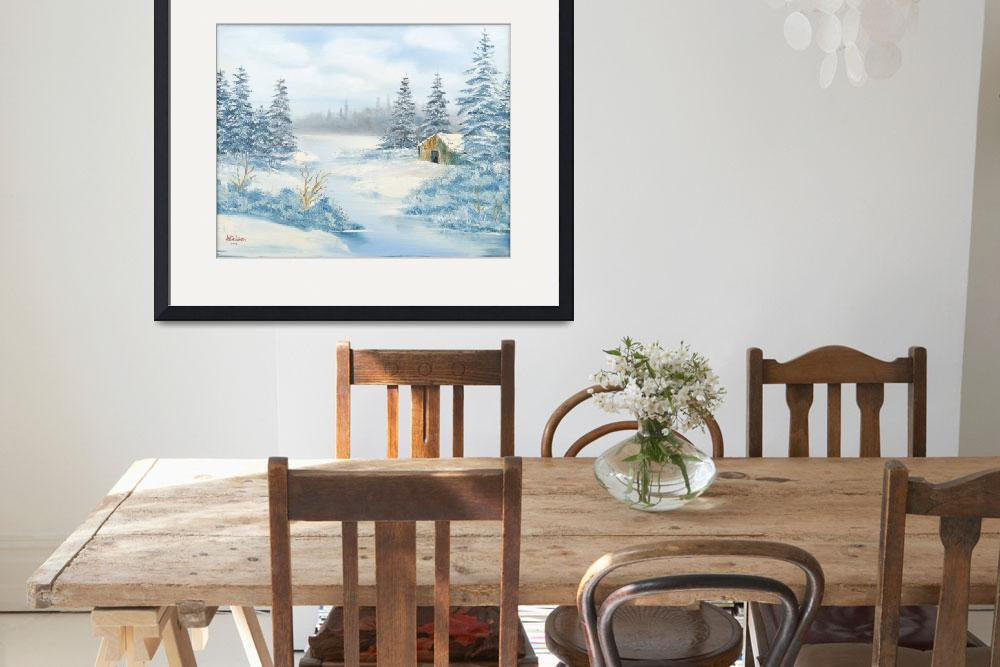 """""""64 Wintertime with Cabin&quot  by RalphNielsenArt"""