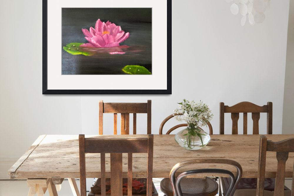 """""""Waterlily&quot  (2010) by claire-budden"""