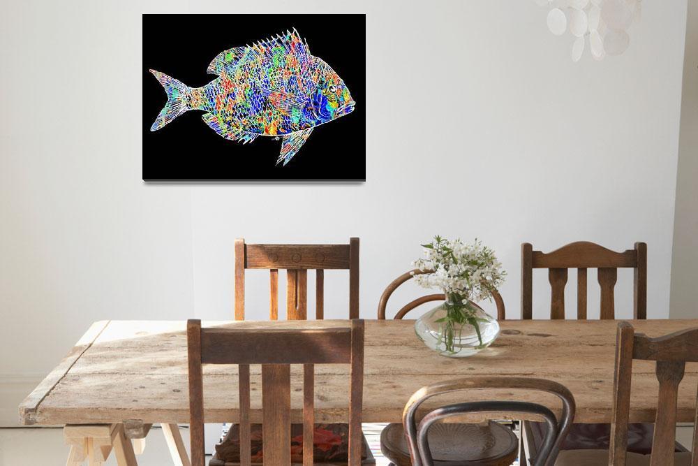 """Fish Study 2""  (2017) by RubinoFineArt"