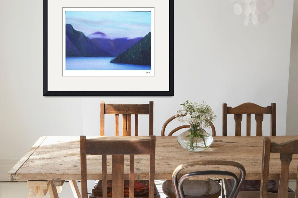 """""""Lights from Hwy 101, along Lake Crescent, Olympic&quot  by JAMESONART"""