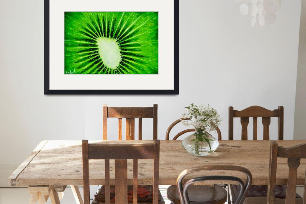 """""""""""Kiwi Explosion"""" original acrylic painting&quot  (2008) by marnold"""