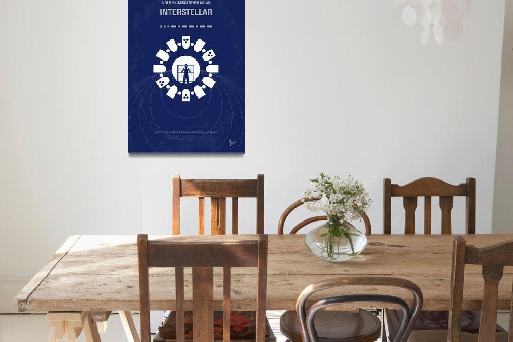 """No532 My Interstellar minimal movie poster&quot  by Chungkong"