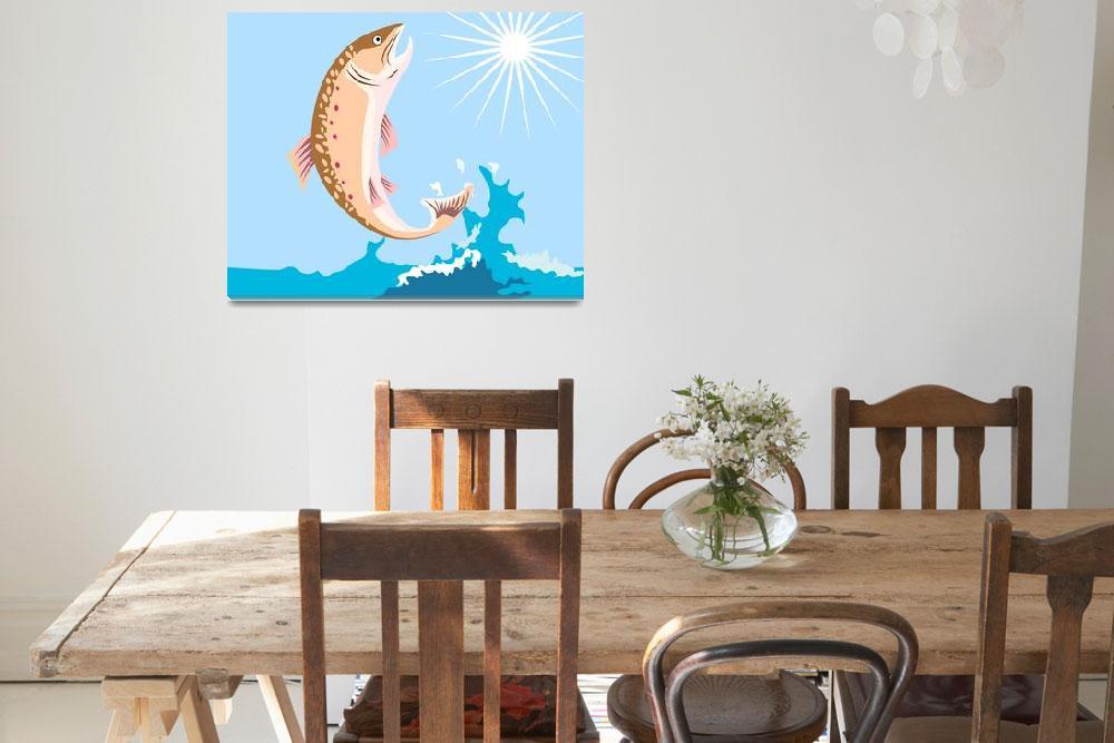 """""""Trout Fish Retro""""  (2013) by patrimonio"""