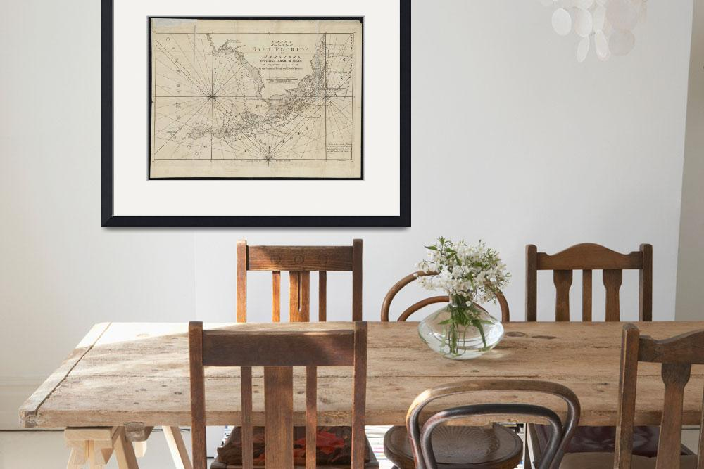 """""""Vintage Map of The Florida Keys (1771)&quot  by Alleycatshirts"""