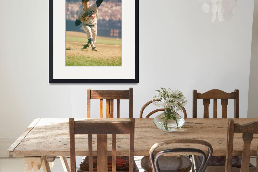 """""""Sandy Koufax Pitching&quot  by RetroImagesArchive"""