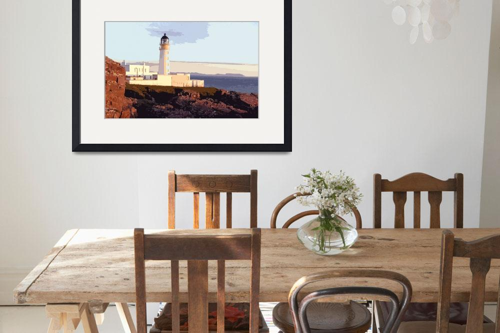 """Rubha Reidh Lighthouse at Sunset&quot  by SkyeLewis"