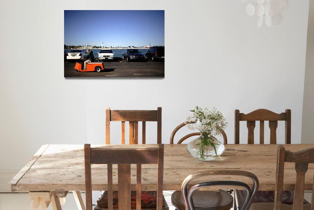 """Orange cart pilot by the sea&quot  (2009) by patjarrett"