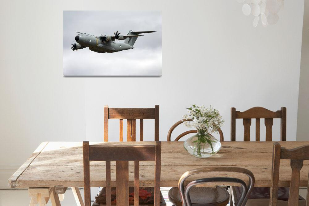 """""""Airbus Military A400M demonstrator EC-402 aircraft&quot  (2010) by AndrewHarker"""
