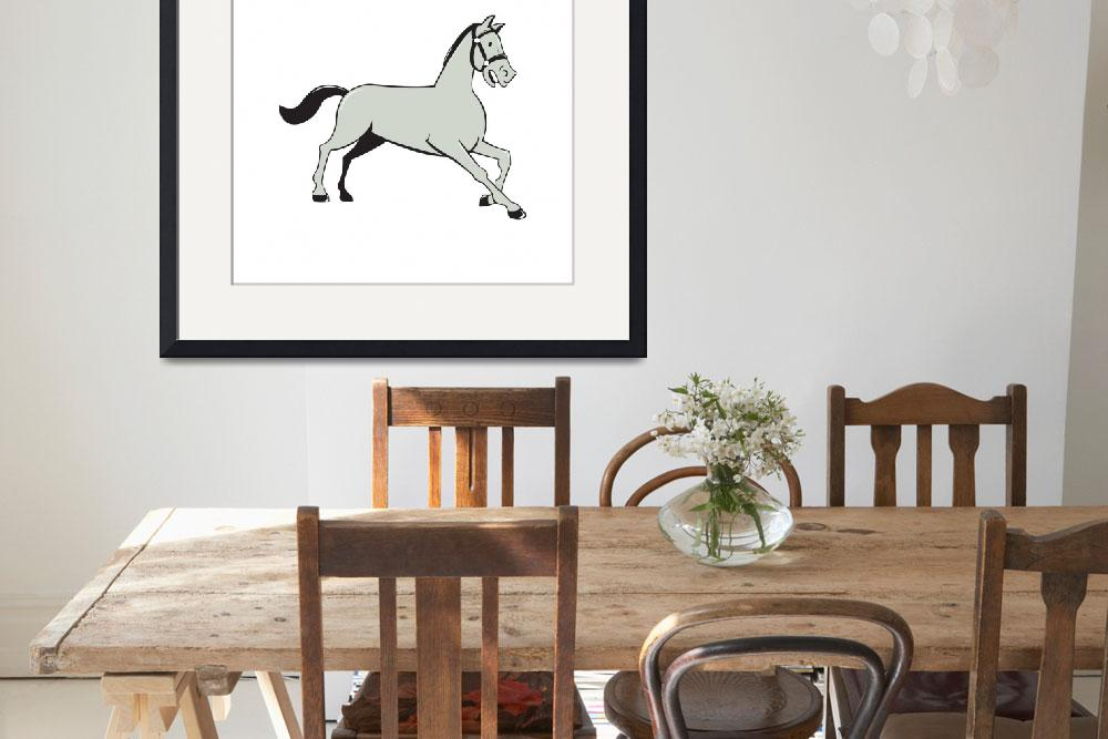 """""""Horse Trotting Side Cartoon Isolated&quot  (2015) by patrimonio"""