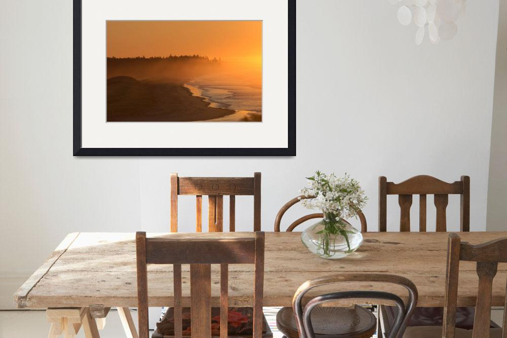 """""""Gold sunrise Small Point Maine&quot  by ninafuller"""