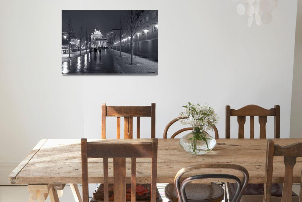 """Berlin - Ebertstrasse and the Brandenburg Gate&quot  by PierreLogwin"