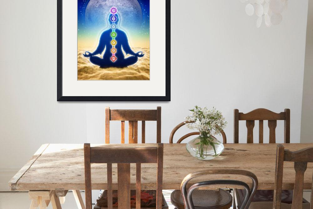 """""""In Meditation With Chakra - Blue Moon Edition&quot  by dcz"""