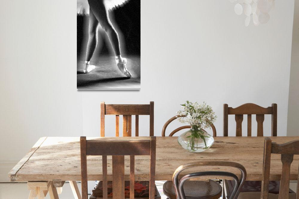 """Ballet Dancer Legs Black and White&quot  (2014) by RubinoFineArt"