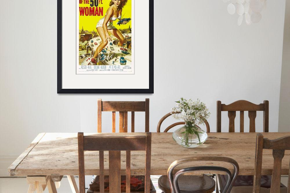 """""""Attack of the 50 ft Woman Movie Poster&quot  by Alleycatshirts"""
