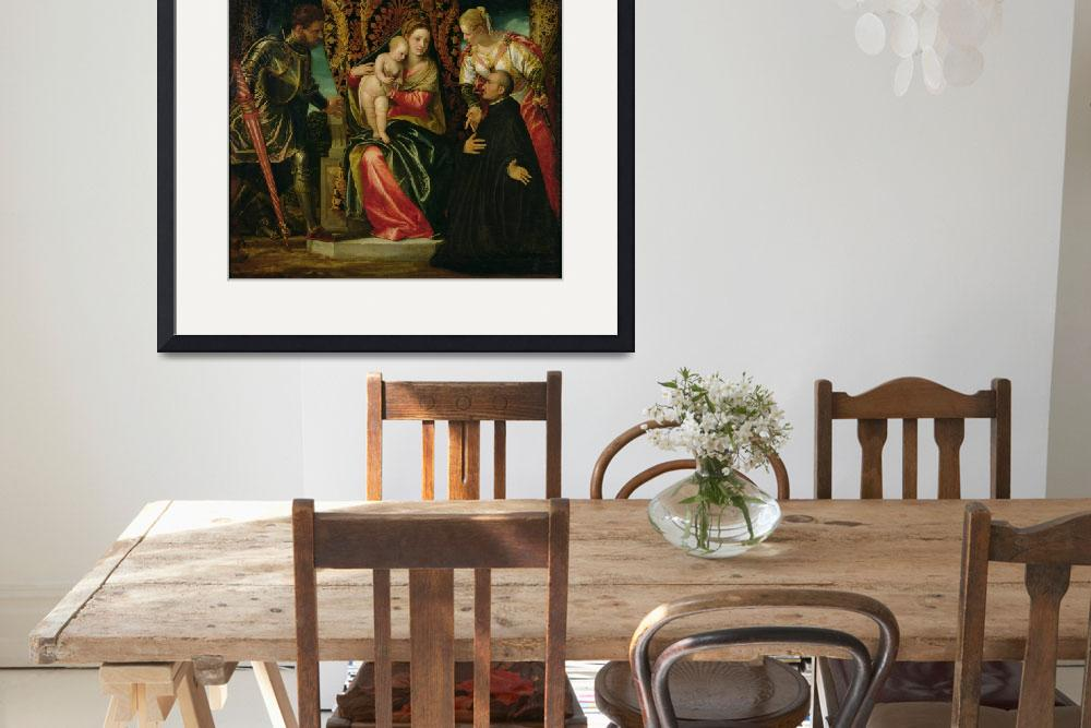 """""""Virgin and Child between St. Justine and St. Georg&quot  by fineartmasters"""