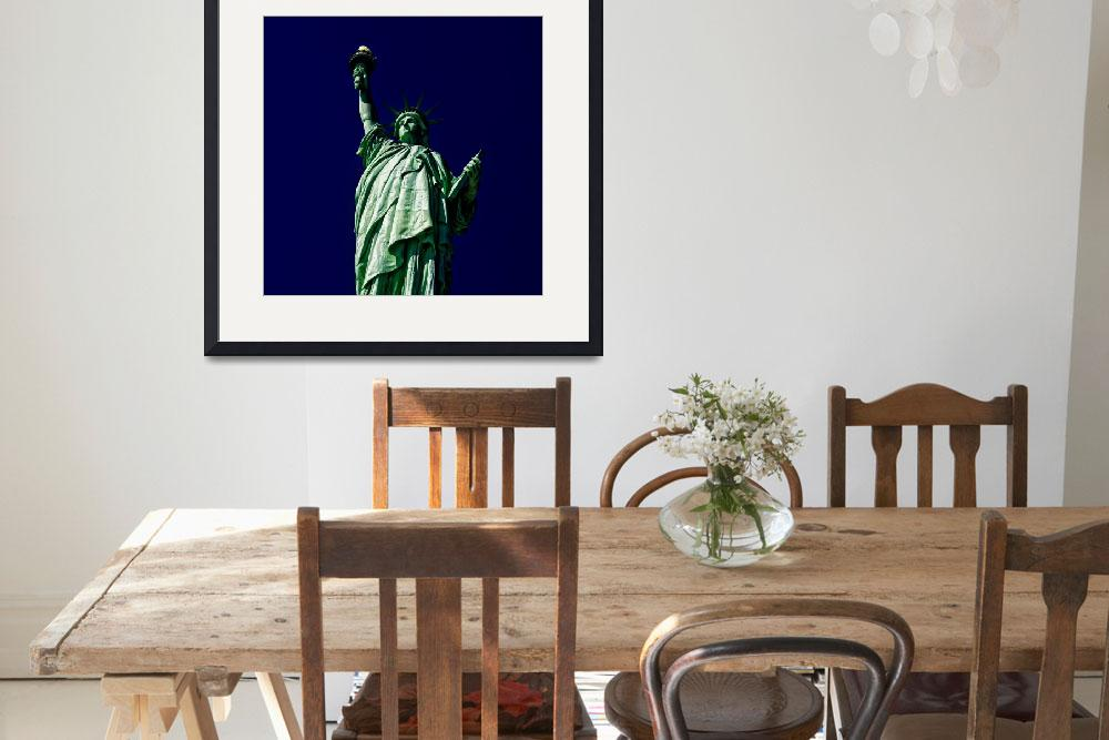 """""""Statue of Liberty amidst the Darkness&quot  (2009) by New-Yorkled"""