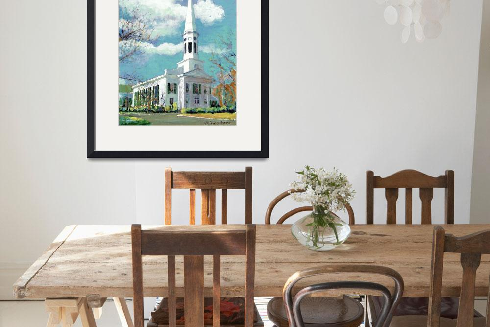 """""""Church in New Canaan, Connecticut&quot  (2005) by RDRiccoboni"""