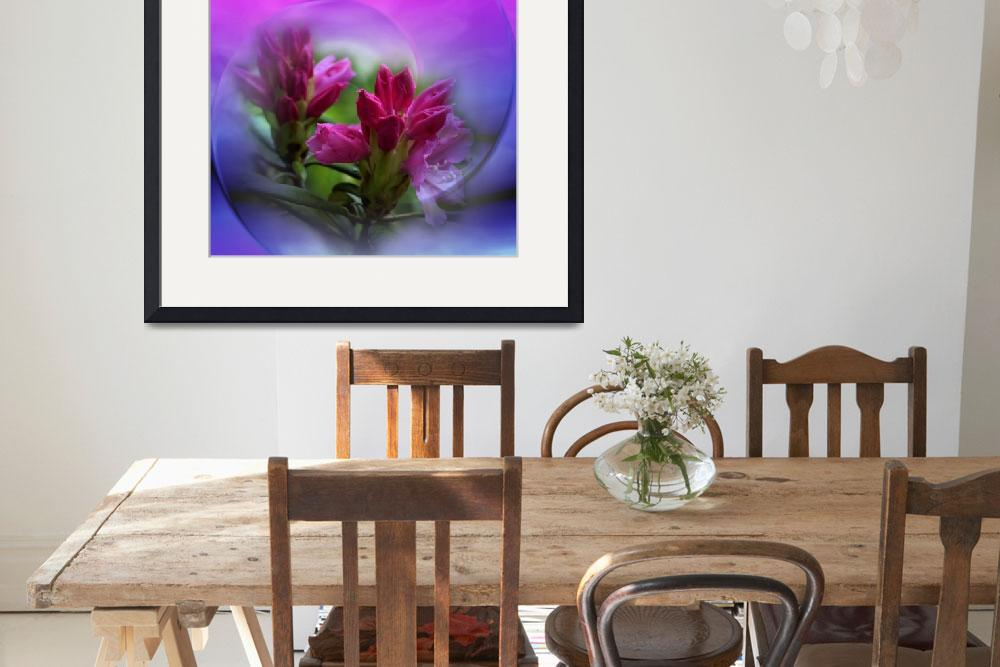 """""""flowers on texture- rhododendronbuds -2-&quot  (2017) by issabild"""