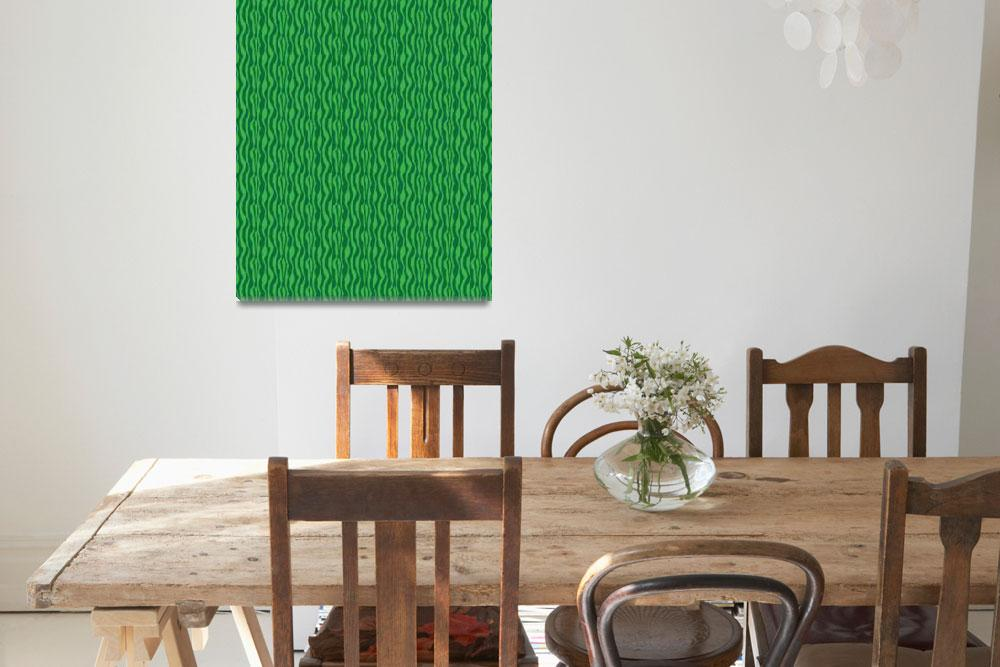 """Green Zebra Pattern Print&quot  (2015) by ValeriesGallery"