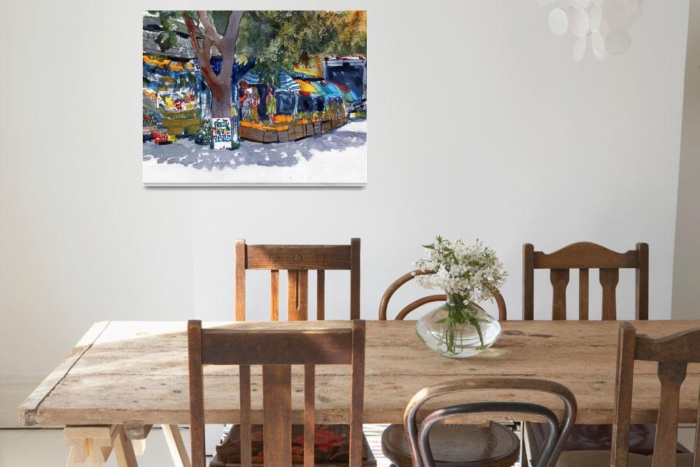 """Cape Cod Art Watercolor Landscape ""Fresh Fruit""""  by schulmanart"