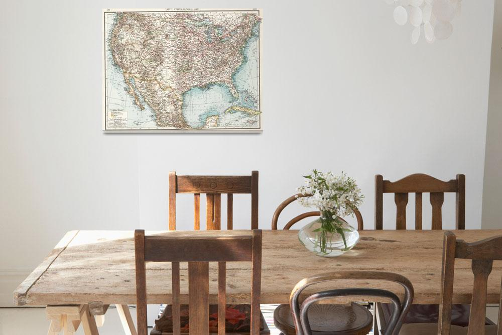 """""""Vintage United States Map (1900)""""  by Alleycatshirts"""