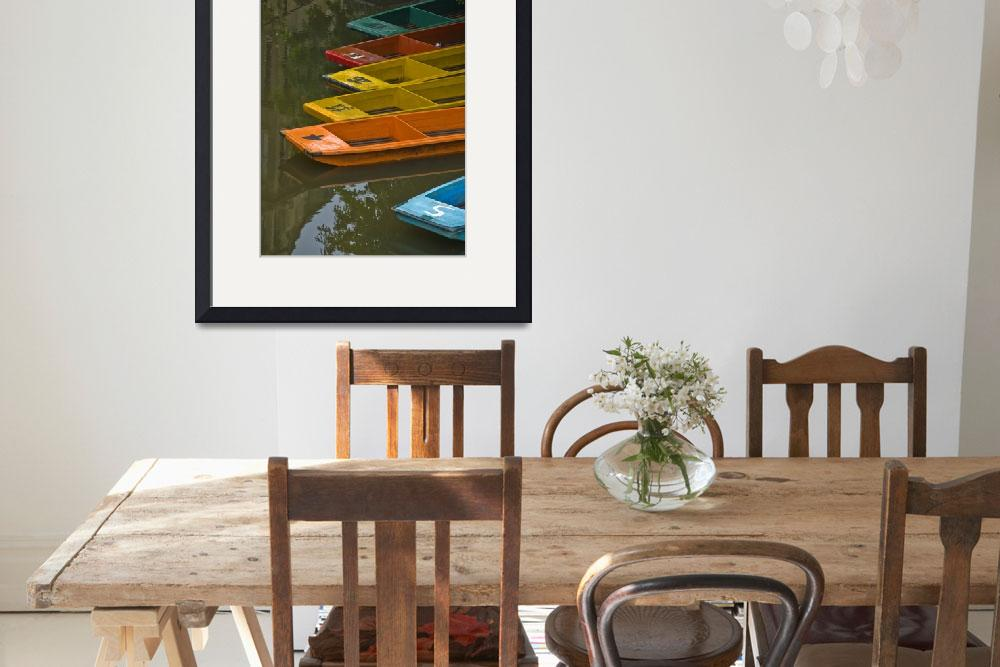 """""""Bright Punting Boats, Oxford&quot  (2008) by SederquistPhotography"""