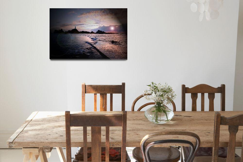 """""""Corbiere Lighthouse at Sunset Jersey  C I&quot  by Jerseyimage"""