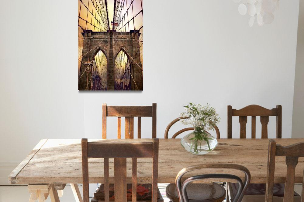 """Brooklyn Bridge Sunrise""  (2014) by JessicaJenney"