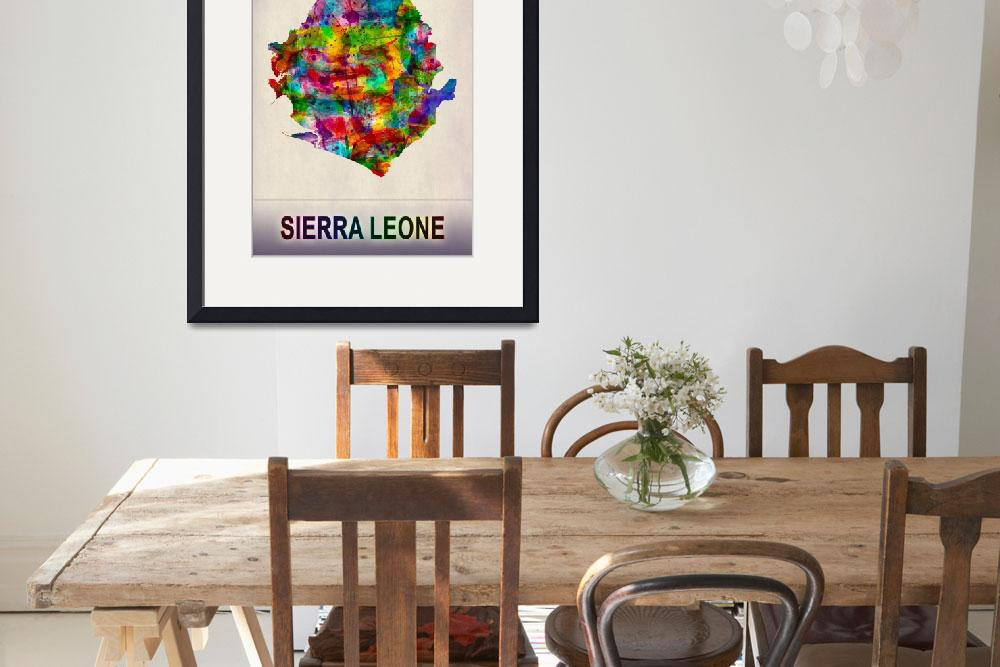 """""""Sierra Leone Map""""  by Towseef"""