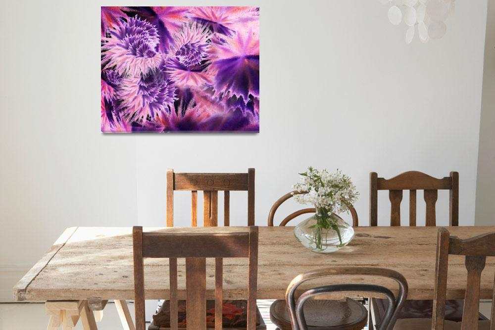 """Abstract Purple Flowers""  (2015) by IrinaSztukowski"