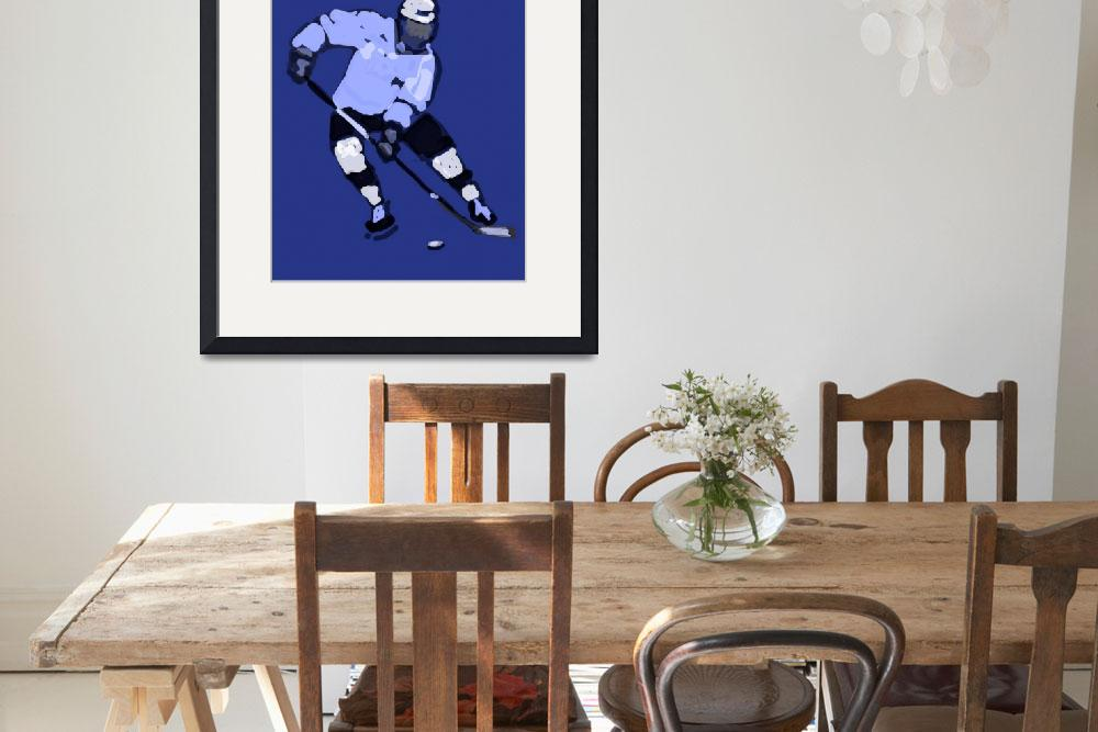"""Hockey Left Wing navy blue (c)""  (2014) by edmarion"