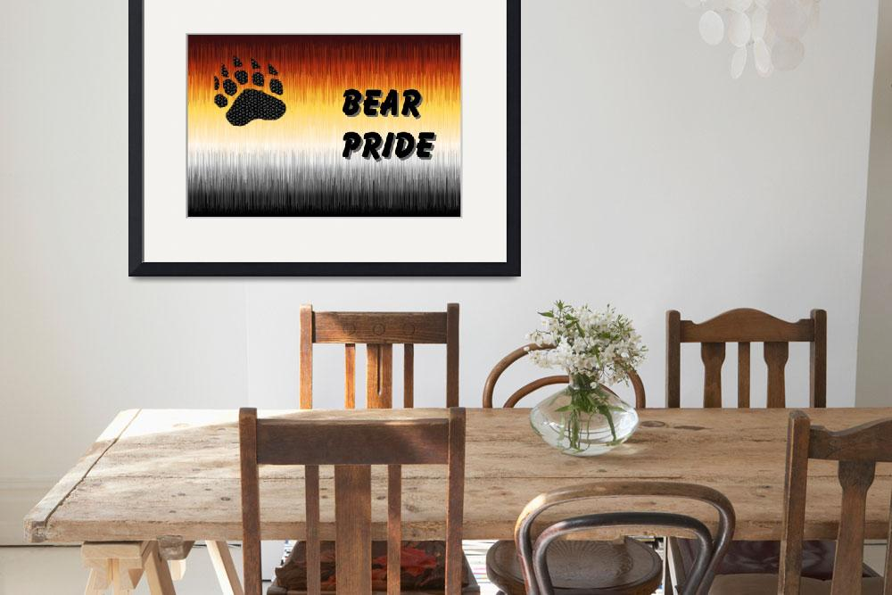 """""""FURRY BEAR PRIDE FLAG WITH BEAR PRIDE LETTERS&quot  (2008) by bears_n_leather_pride"""