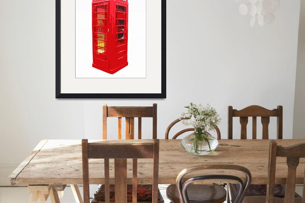 """Red British Telephone&quot  (2010) by whitewallgallery"