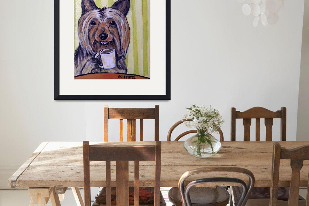 """""""Silky Terrier at the Coffee Shop&quot  (2006) by lulunjay"""