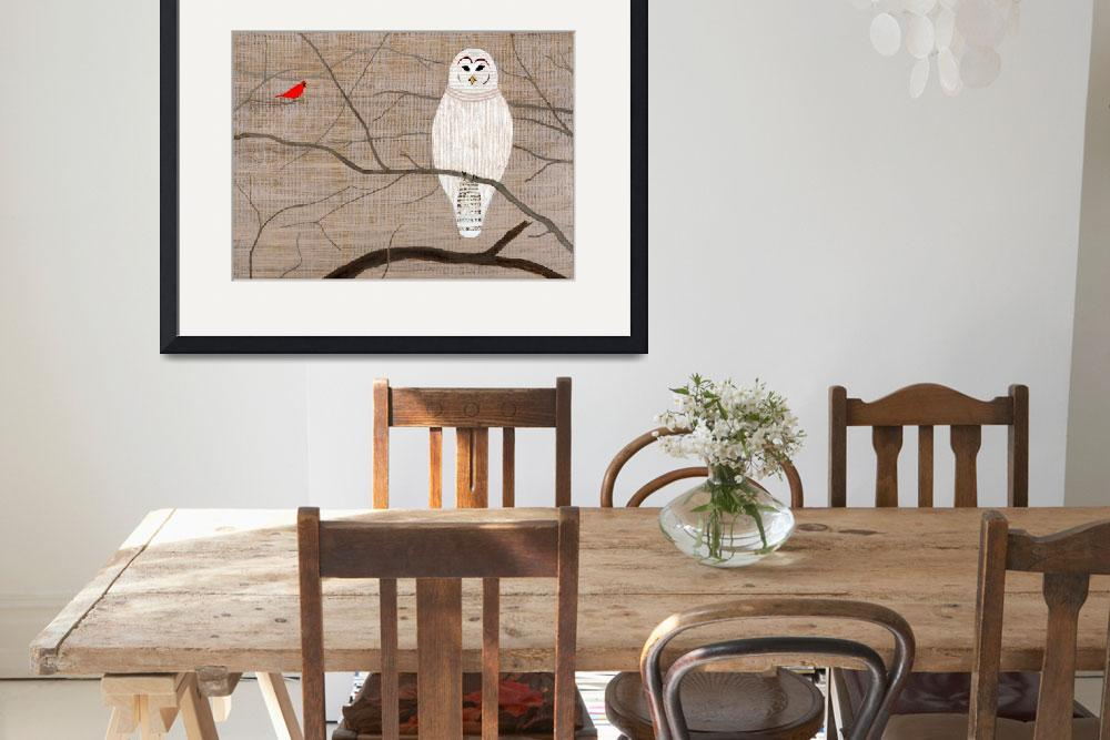 """""""Barred Owl&quot  (2014) by LimeCreekArt"""