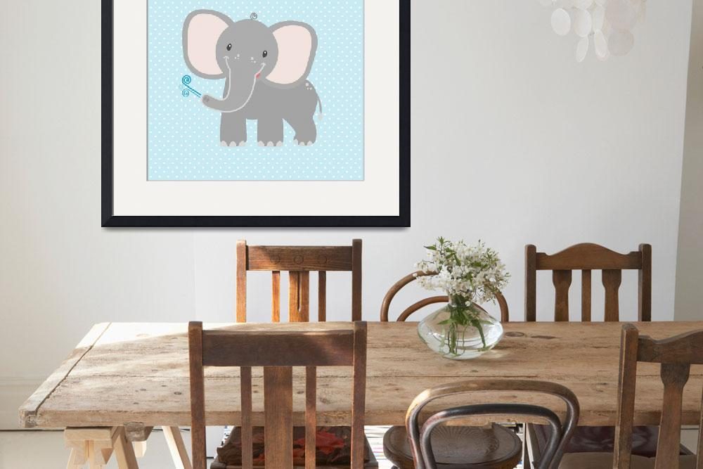 """Elephant  (blue)&quot  by littlebubbies"