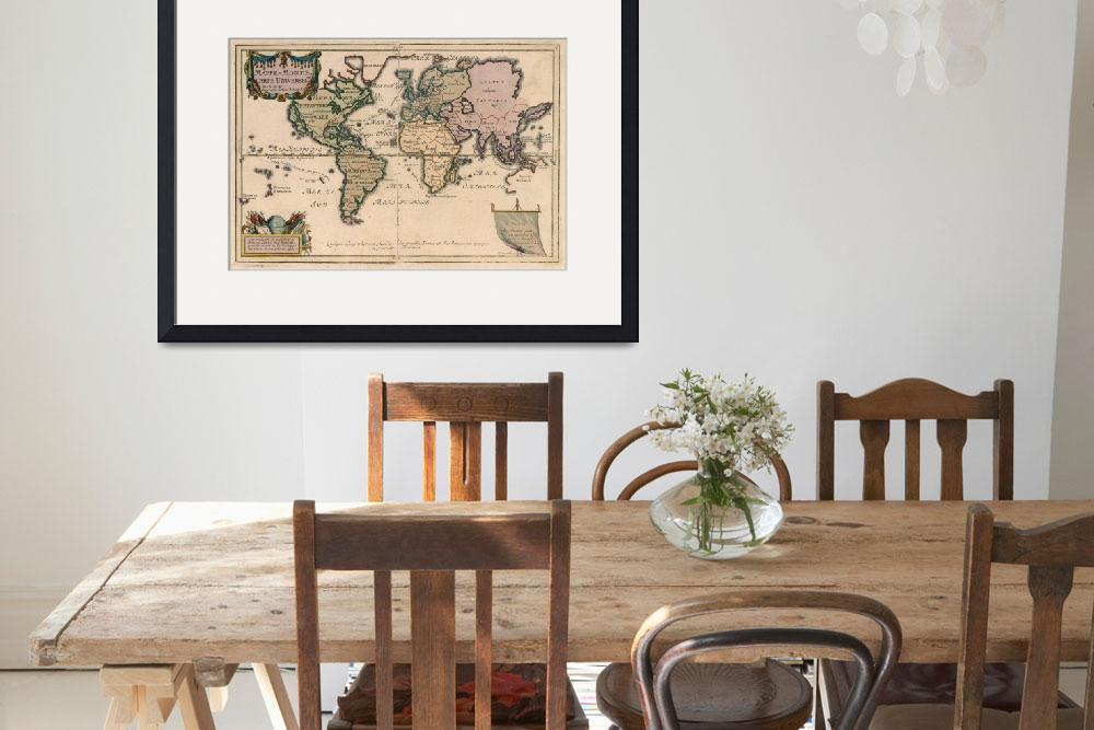 """Vintage Map of The World (1714)&quot  by Alleycatshirts"