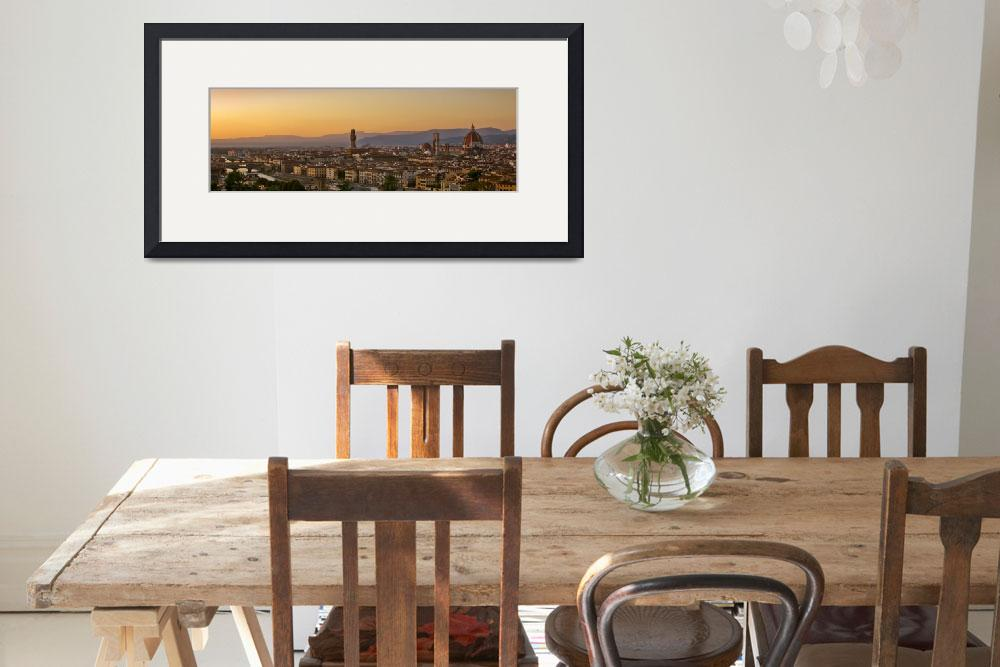 """""""Florence Cityscape&quot  (2011) by Travelerscout"""