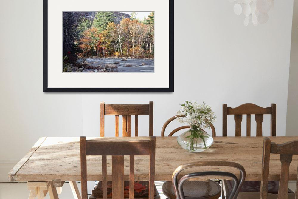 """""""Scenic Fall Foliage at The Swift River&quot  (2008) by George_Oze"""